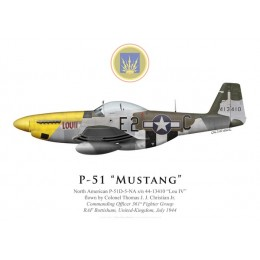 "P-51D Mustang ""Lou IV"", Col. Thomas Christian Jr., CO 361st Fighter Group, RAF Bottisham, 1944"