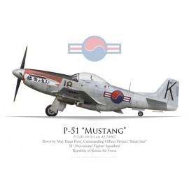 "P-51D Mustang, Maj. Dean Hess, Project ""Bout One"", RoKAF, 1950"