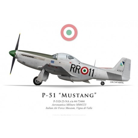 P-51D Mustang MM4323, Italian Air Force museum, Vigna di Valle