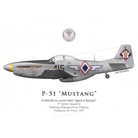 "P-51D Mustang ""Spirit of Mactan"", 8th Fighter Squadron, Philippine Air Force, 1957"