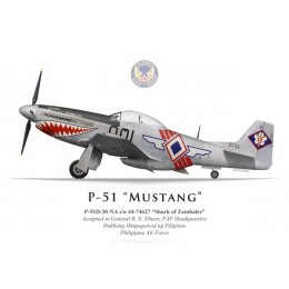 "P-51D Mustang ""Shark of Zambales"", Headquarters, Philippine Air Force"