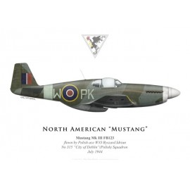 "Mustang Mk III, W/O Ryszard Idrian, No 315 ""City of Deblin"" (Polish) Squadron, Royal Air Force, 1944"