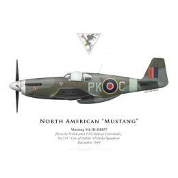 "Mustang Mk III, F/O Andrzej Czerwinski, No 315 ""City of Deblin"" (Polish) Squadron, Royal Air Force, 1944"