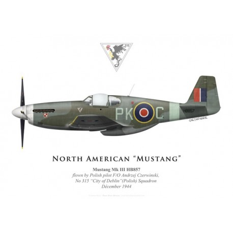 "Mustang Mk III, F/O Andrzej Czerwinski, No 315 ""City of Deblin"" (Polish) Squadron, Royal Air Force, 1944"
