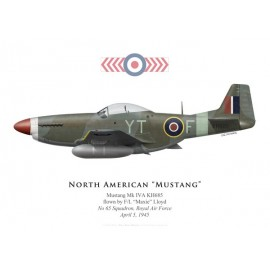 "Mustang Mk IV, F/L ""Maxie"" Lloyd, No 65 Squadron, Royal Air Force, 1945"