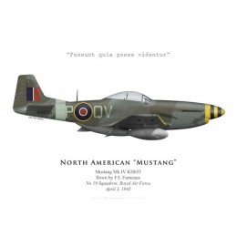 Mustang Mk IV, F/L Furneaux, No 19 Squadron, Royal Air Force, 1945