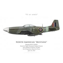 Mustang Mk IV, F/L Graham Pearson, No 65 Squadron, Royal Air Force, avril 1945