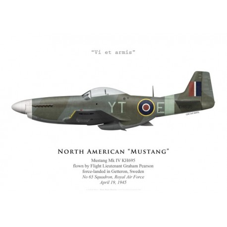 Mustang Mk IV, F/L Graham Pearson, No 65 Squadron, Royal Air Force, avril 1945
