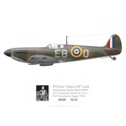 Spitfire Mk Ia, P/O Erick Lock, No 41 Squadron, Royal Air Force, 1940