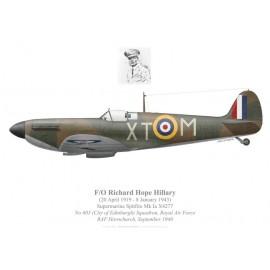 Spitfire Mk Ia, F/O Richard Hillary, No 603 Squadron, Royal Air Force, September 1940
