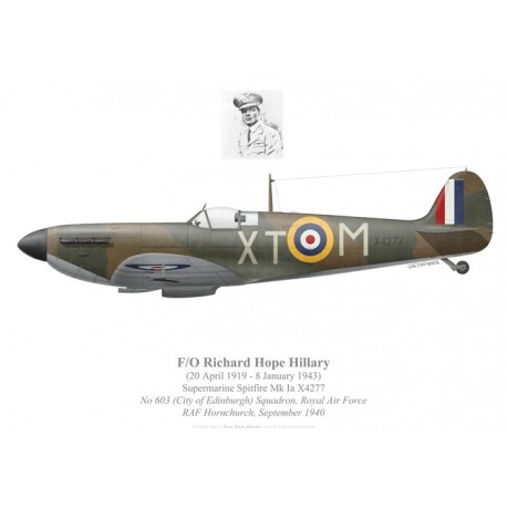 Spitfire Mk Ia, F/O Richard Hillary, No 603 Squadron, Royal Air Force, septembre 1940