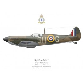 Spitfire Mk Ia, Maurice Choron, No 64 Squadron, Royal Air Force, Autumn 1940