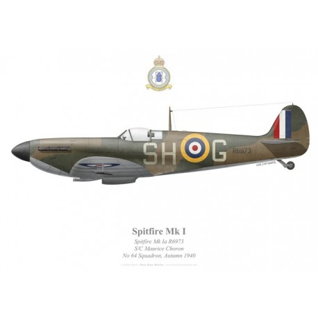 Spitfire Mk Ia, Maurice Choron, No 64 Squadron, Royal Air Force, automne 1940