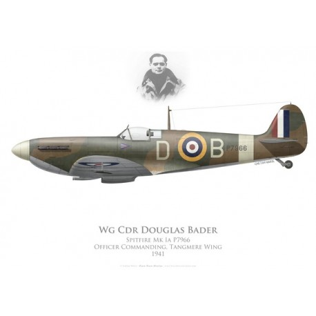 Spitfire Mk Ia, Wg Cdr Douglas Bader, Tangmere Wing, Royal Air Force, 1941