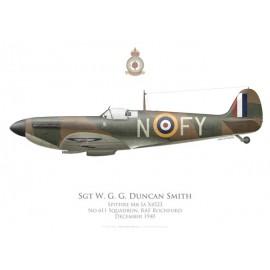 Spitfire Mk Ia, Sgt W. G. G. Duncan Smith, No 611 Squadron, Royal Air Force, décembre 1940