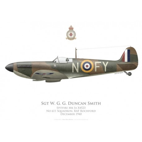 Spitfire Mk Ia, Sgt W. G. G. Duncan Smith, No 611 Squadron, Royal Air Force, December 1940
