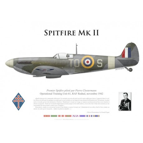 Spitfire Mk II, Operational Training Unit 61, novembre 1942 Royal Air Force - premier vol de Clostermann sur Spitfire