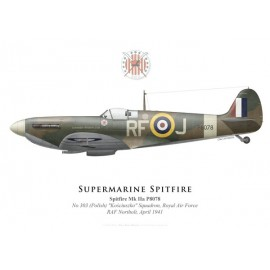 "Spitfire Mk IIa ""Garfield Weston Ltd"", No 303 (Polish) Squadron, Royal Air Force, avril 1941"