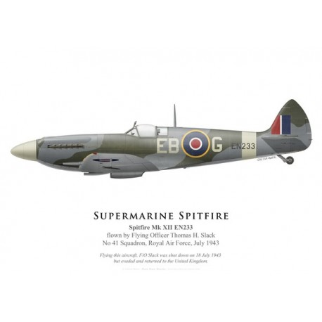 Spitfire Mk XII, F/O Thomas Slack, No 41 Squadron, Royal Air Force, juillet 1943
