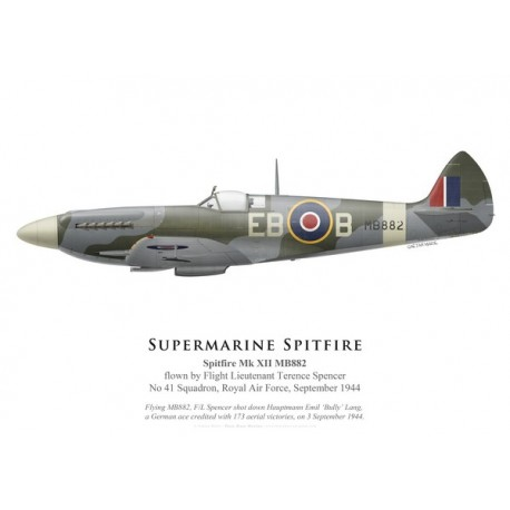 Spitfire Mk XII, F/L Terence Spencer, No 41 Squadron, Royal Air Force, septembre 1944