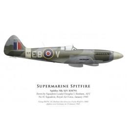 Spitfire Mk XIV RM791, S/L Douglas Benham, No 41 Squadron, Royal Air Force, janvier 1945 (coté droit)
