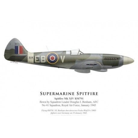 Spitfire Mk XIV RM791, S/L Douglas Benham, No 41 Squadron, Royal Air Force, janvier 1945