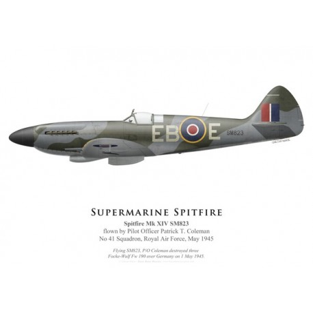 Spitfire Mk XIV SM823, P/O Patrick Coleman, No 41 Squadron, Royal Air Force, mai 1945