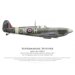 Spitfire Mk VI, P/O Michael Kilburn DFC, No 124 Squadron, Royal Air Force, 1942