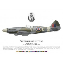 Spitfire Mk XIV, F/S de Vries, No 322 (Dutch) Squadron, Royal Air Force, 1944
