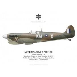 Spitfire Mk Vc, W/O Huon Chandler (RNZAF), No 615 (County of Surrey) Squadron, Royal Air Force, India, 1943