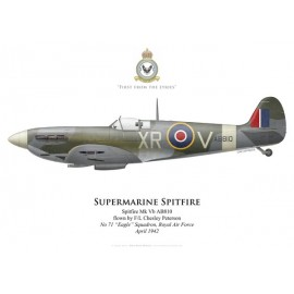 "Spitfire Mk Vb, F/L Chesley Peterson, No 71 ""Eagle"" Squadron, RAF, 1942"