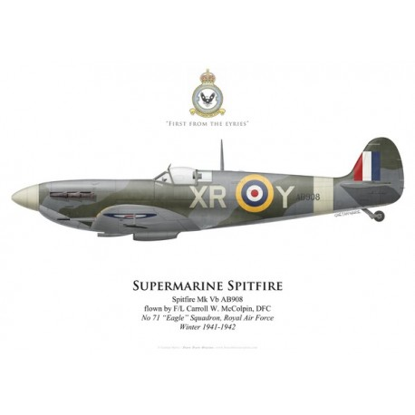 "Spitfire Mk Vb, F/L Carroll McColpin, No 71 ""Eagle"" Squadron, RAF, winter 1941-1942"