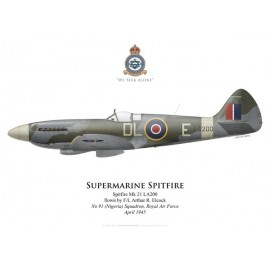 Spitfire Mk 21, F/L Arthur Elcock, No 91 (Nigeria) Squadron, Royal Air Force, 1945