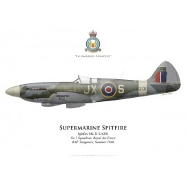 Spitfire Mk 21, No 1 Squadron, Royal Air Force, 1946
