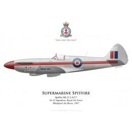 Spitfire Mk 21, No 41 Squadron, Royal Air Force, Blackpool Air Races, 1947