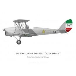 Tiger Moth, Armée de l'air impériale iranienne