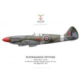 Spitfire Mk 21, No 600 (City of London) Squadron, Royal Air Force, Biggin Hill, 1948