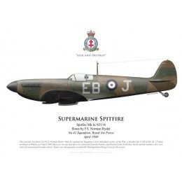 Spitfire Mk Ia, F/L Norman Ryder, No 41 Squadron, Royal Air Force, avril 1940