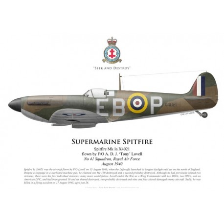 Spitfire Mk Ia, F/O Tony Lovell, No 41 Squadron, Royal Air Force, August 1940