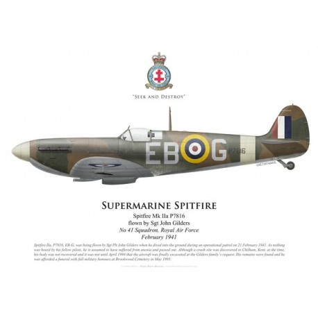 Spitfire Mk IIa, Sgt John Gilders, No 41 Squadron, Royal Air Force, February 1941