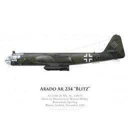 Ar 234B-2b, Oblt. W. Muffey, Kommando Sperling, novembre 1944