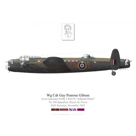 Lancaster Mk I W4118, Wg Cdr Guy Gibson VC, No 106 Squadron, Royal Air Force, 1942