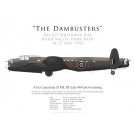 Lancaster Mk III type 464 provisioning, F/L McCarthy, No 617 Squadron, Royal Air Force, Operation Chastise, 16 May 1943