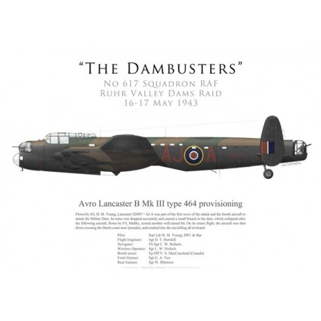 Lancaster Mk III type 464 provisioning, S/L Young, No 617 Squadron RAF, Operation Chastise, 16 May 1943