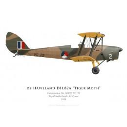 Tiger Moth PG-712, Armée de l'air royale néerlandaise