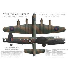 Lancaster Mk III type 464 provisioning, W/C Guy Gibson, No 617 Squadron RAF, Opération Chastise, 16 mai 1943