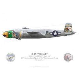 """B-25J Mitchell """"Lady Lil"""", Lt Albert Beiga, 498th BS, 345th BG, USAAF"""