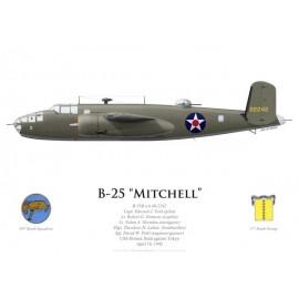 B-25B Mitchell, Capt. Edward York, USS Hornet, Doolittle Raid, 18 April 1942