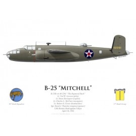 "B-25B Mitchell ""The Ruptured Duck"", Lt. Ted Lawson, USS Hornet, Raid Doolittle, 18 avril 1942"