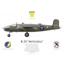 "B-25B Mitchell ""Hari Kari-er"", Capt. Charles Greening, USS Hornet, Doolittle Raid, 18 April 1942"